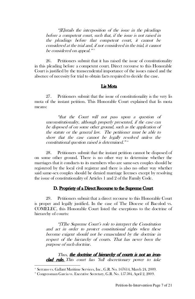 Petition In Intervention Page 7 Of ...