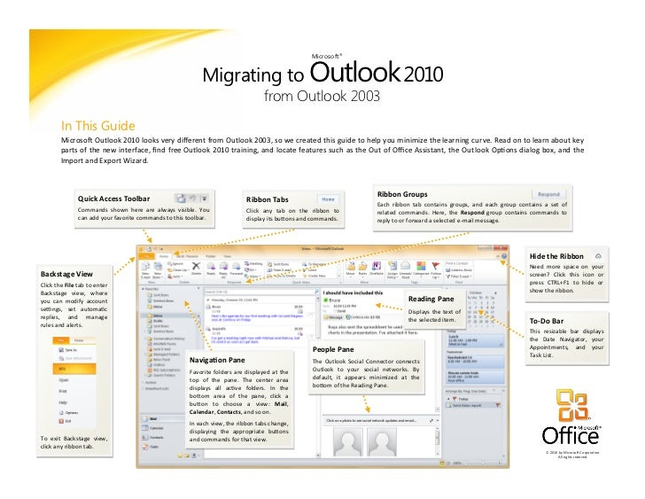Migrating to Outlook 2010                                                                                                 ...