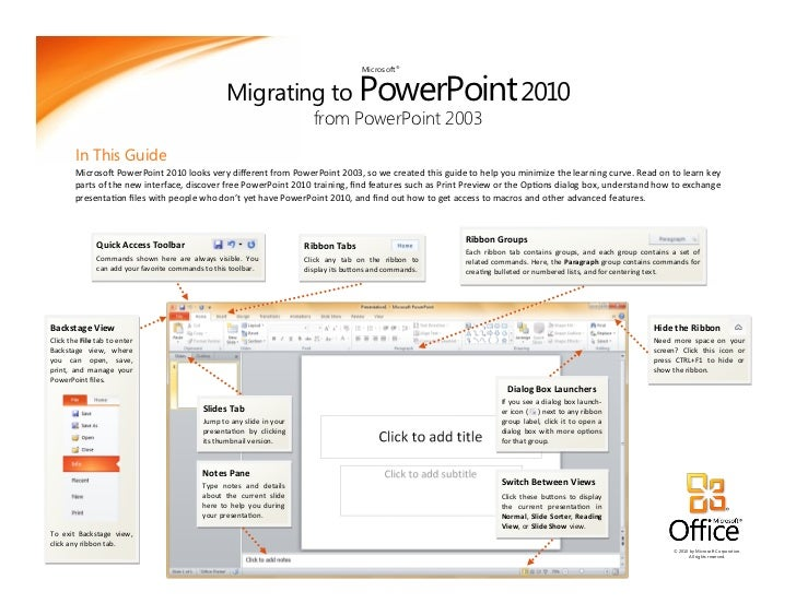 Migrating to PowerPoint 2010                                                                                         Micro...