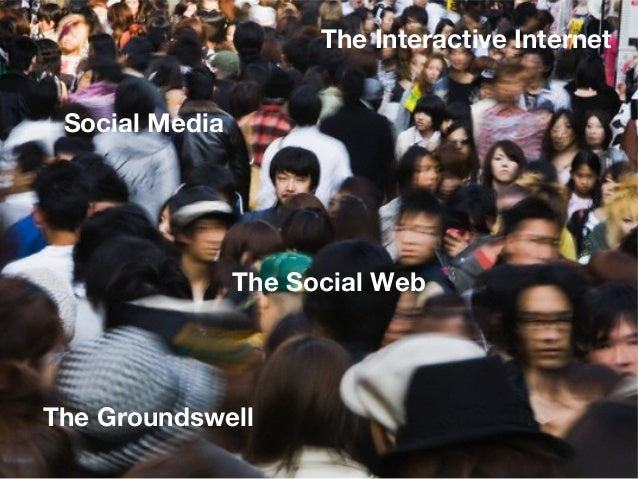 The Interactive Internet Social Media                The Social WebThe Groundswell