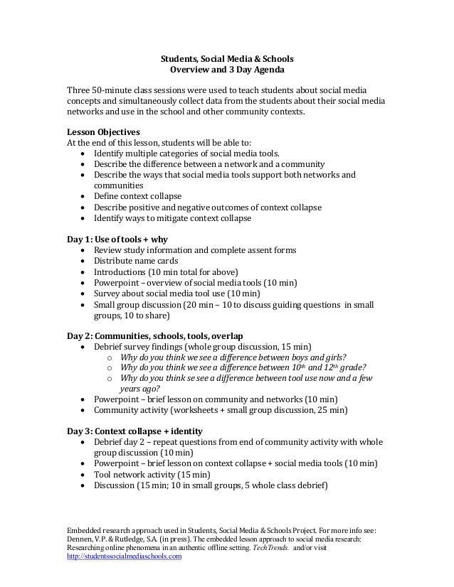 EmbeddedresearchapproachusedinStudents,SocialMedia&SchoolsProject.Formoreinfosee: Dennen,V.P.&Rutledge,...
