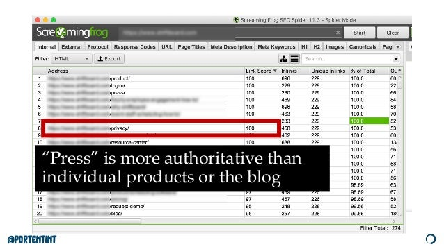 """@portentint """"Press"""" is more authoritative than individual products or the blog"""