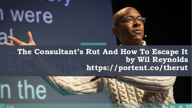 @portentint The Consultant's Rut And How To Escape It by Wil Reynolds https://portent.co/therut
