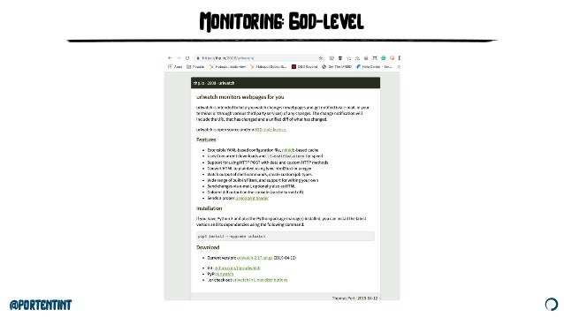 @portentint Monitoring: God-level
