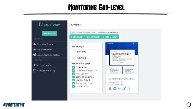 @portentint Monitoring: God-level