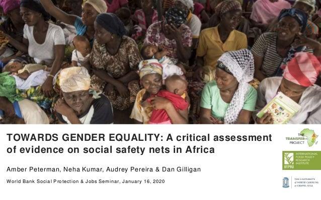 Amber Peterman, Neha Kumar, Audrey Pereira & Dan Gilligan World Bank Social Protection & Jobs Seminar, January 16, 2020 TO...