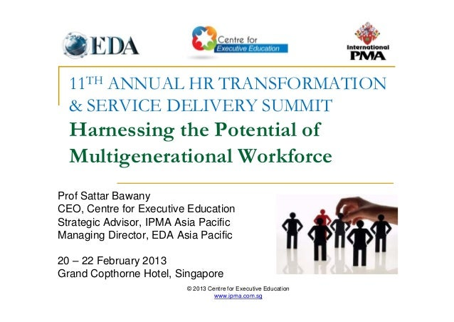 © 2013 Centre for Executive Education www.ipma.com.sg 11TH ANNUAL HR TRANSFORMATION & SERVICE DELIVERY SUMMIT Harnessing t...