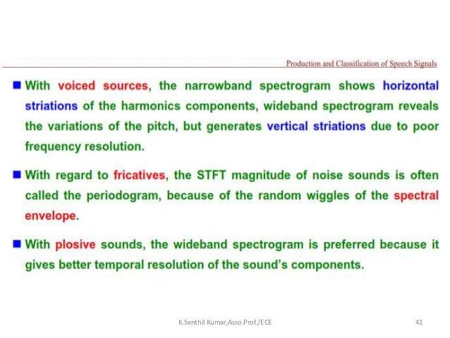 Speech Signal Processing-Application overview -Seminar Part-1