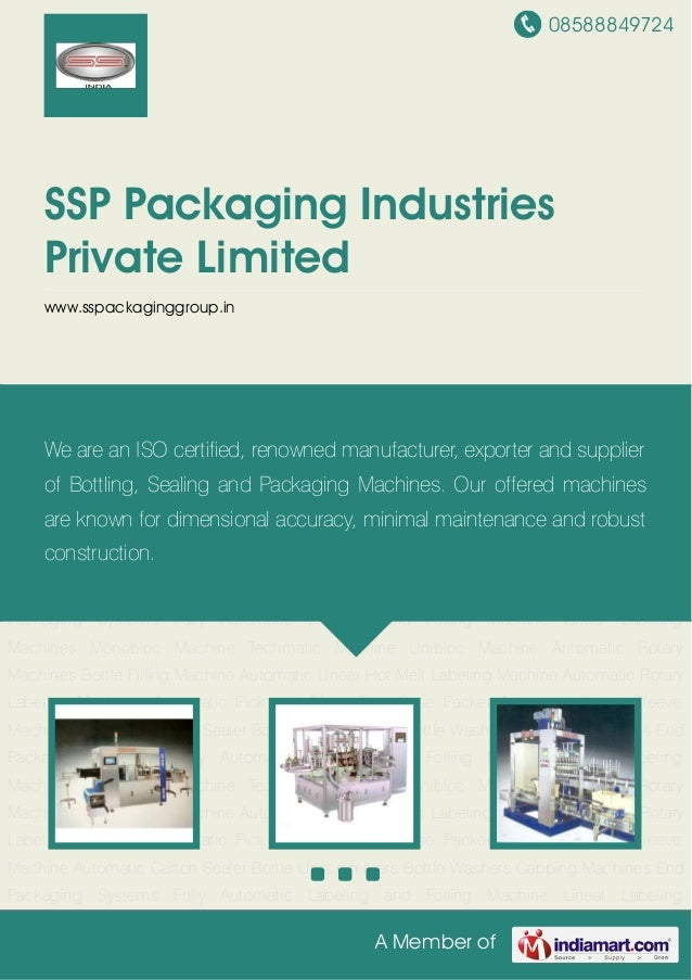 08588849724A Member ofSSP Packaging IndustriesPrivate Limitedwww.sspackaginggroup.inAutomatic Linear Hot Melt Labeling Mac...