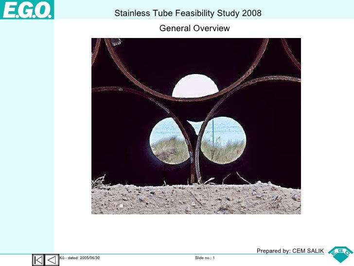 Stainless Steel Feasibility Study Overview 2008 CSALIK