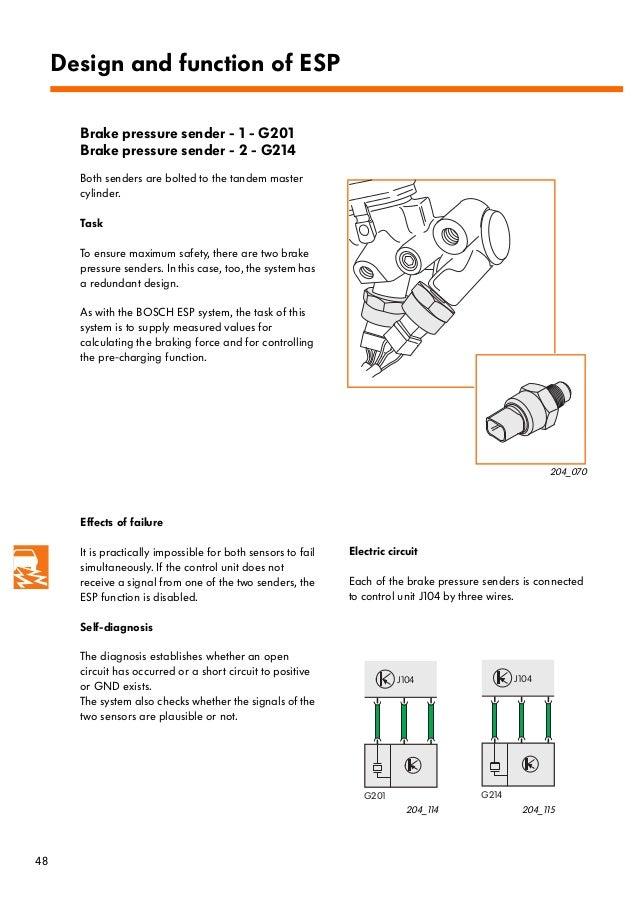 brake pressure sensor 1 (g201) fault