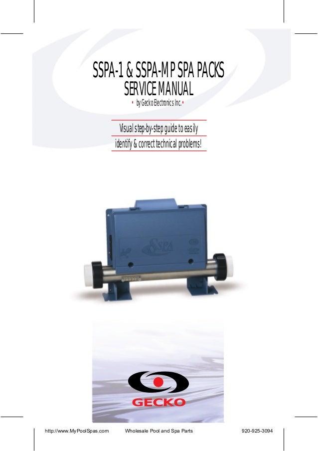sspa-1 & sspa-mp spa packs service manual • by gecko
