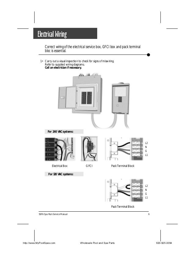 sspa 1 and sspa mp spa packs 7 electrical wiring