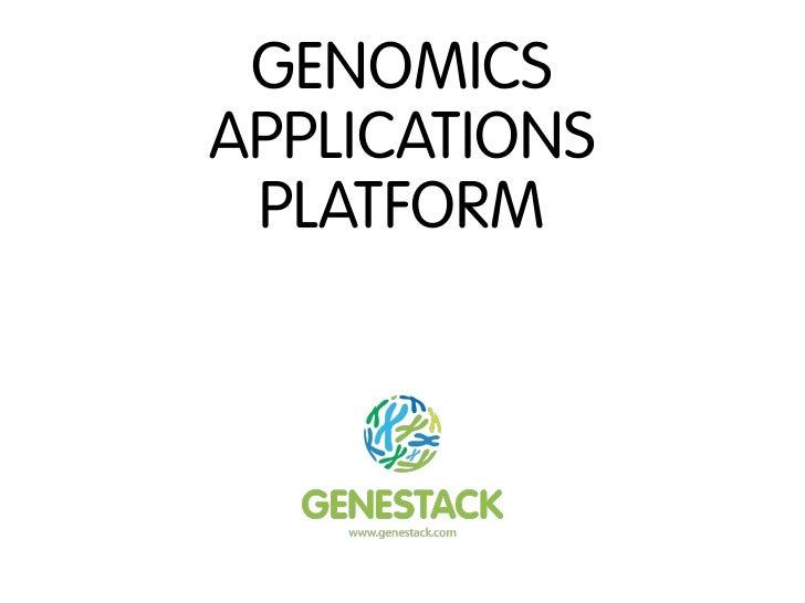 GENOMICSAPPLICATIONS PLATFORM
