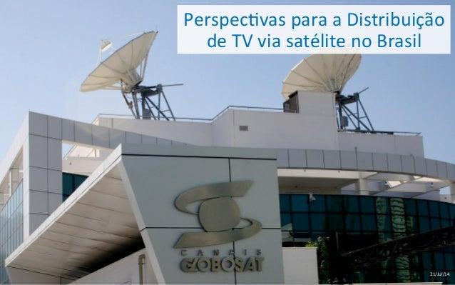 Perspec'vas  para  a  Distribuição   de  TV  via  satélite  no  Brasil   21/Jul/14