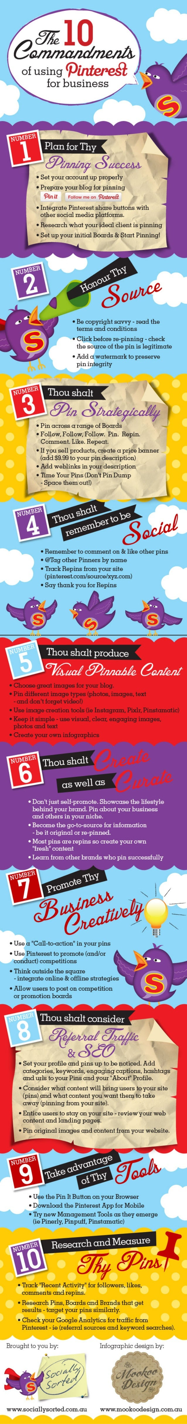 The 10 Commandments of Using Pinterest for Business - Infographic