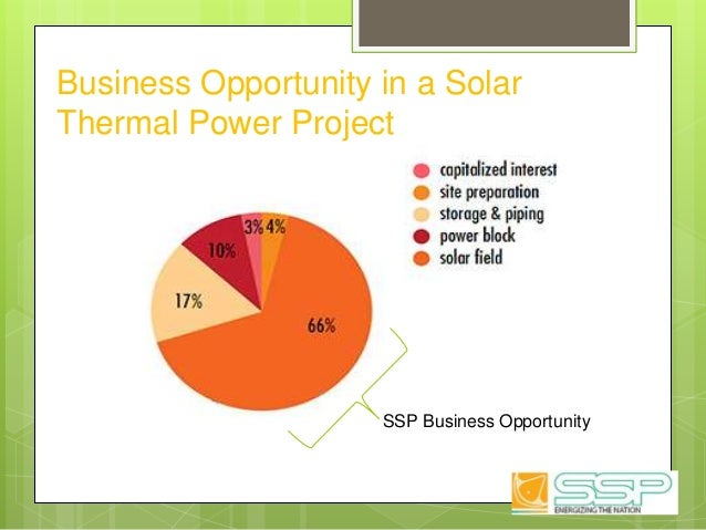Business Opportunity in a Solar Thermal Power Project SSP Business Opportunity