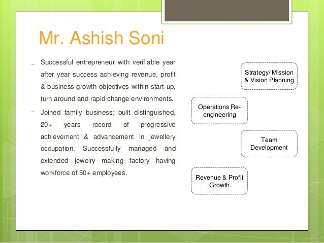 Mr. Ashish Soni Successful entrepreneur with verifiable year after year success achieving revenue, profit & business growt...