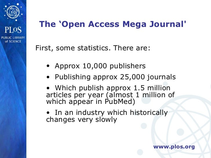 """PLoS ONE And The Rise Of The Open Access Mega Journal"" By Peter Binf…"