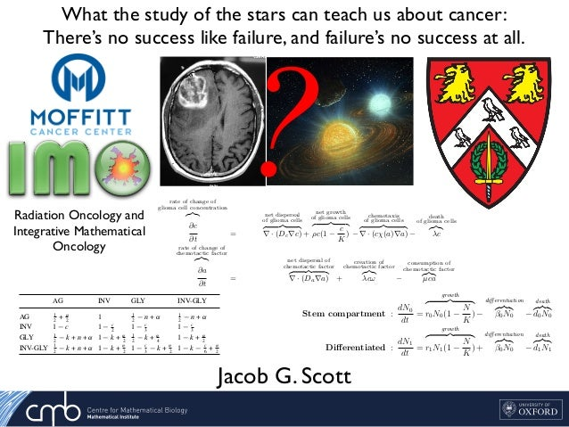 What the study of the stars can teach us about cancer: There's no success like failure, and failure's no success at all. J...