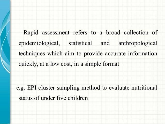 Rapid Epidemiological Methods