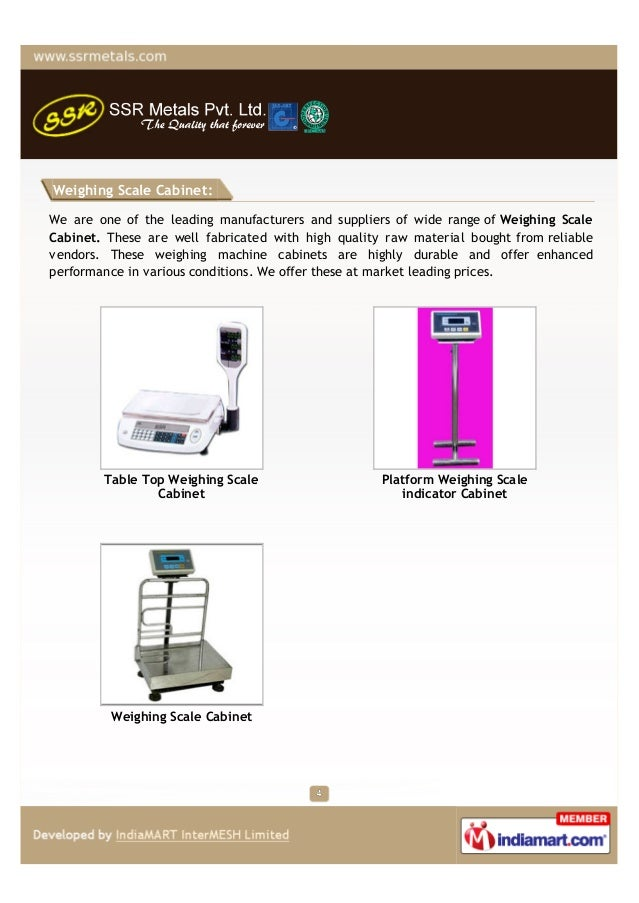 Weighing Scale Cabinet:We are one of the leading manufacturers and suppliers of wide range of Weighing ScaleCabinet. These...