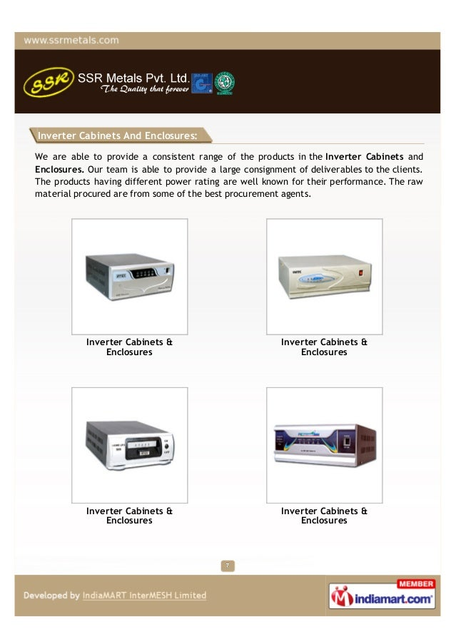Inverter Cabinets And Enclosures:We are able to provide a consistent range of the products in the Inverter Cabinets andEnc...