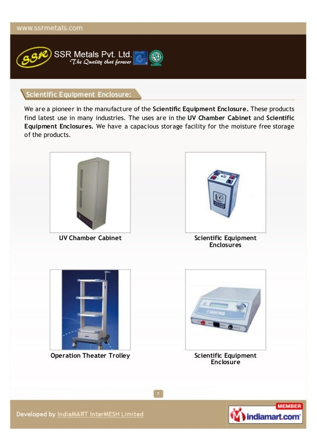 Scientific Equipment Enclosure:We are a pioneer in the manufacture of the Scientific Equipment Enclosure. These productsfi...
