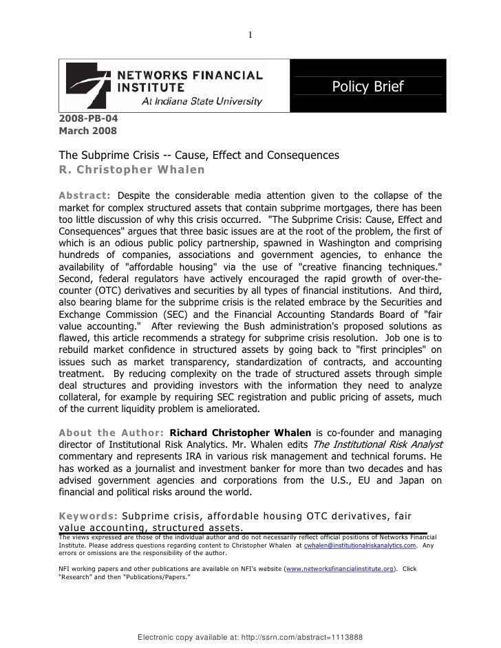1                                                                                           Policy Brief2008-PB-04March 20...