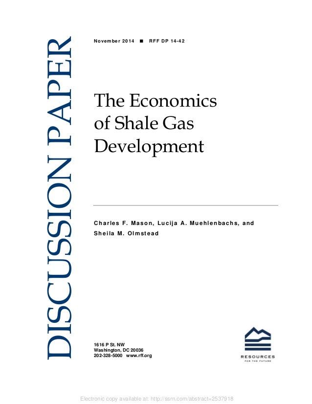 Electronic copy available at: http://ssrn.com/abstract=2537918 1616 P St. NW Washington, DC 20036 202-328-5000 www.rff.org...
