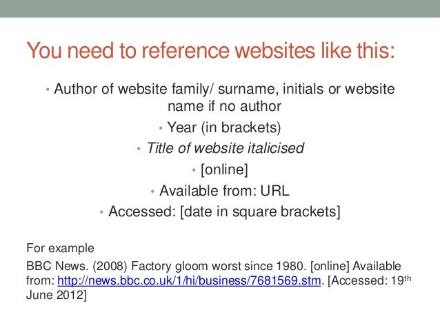How To Harvard Reference Websites In An Essay - Essay references ...