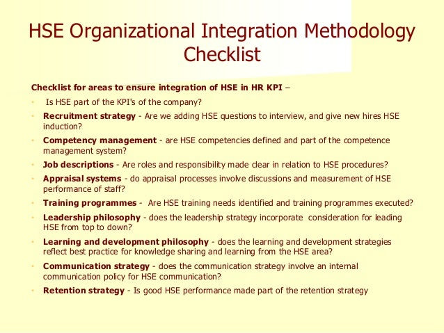 guide to measuring hse performance Selecting quality and resource use measures: a decision guide for community quality collaboratives.
