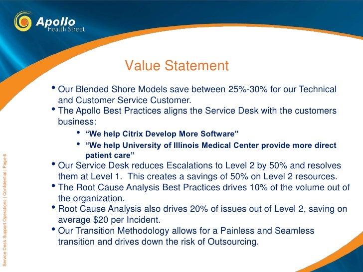 Apollo Service Desk Capabilities