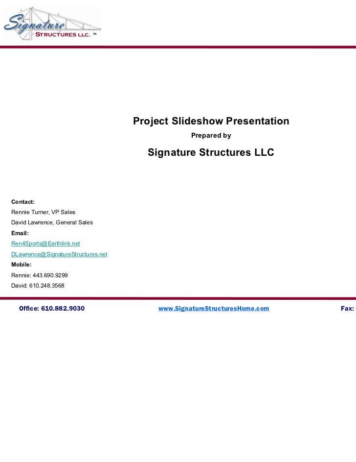 TM                                     Project Slideshow Presentation                                                  Pre...