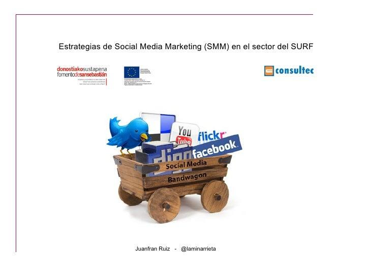 Estrategias de Social Media Marketing (SMM) en el sector del SURF                   Juanfran Ruiz - @laminarrieta