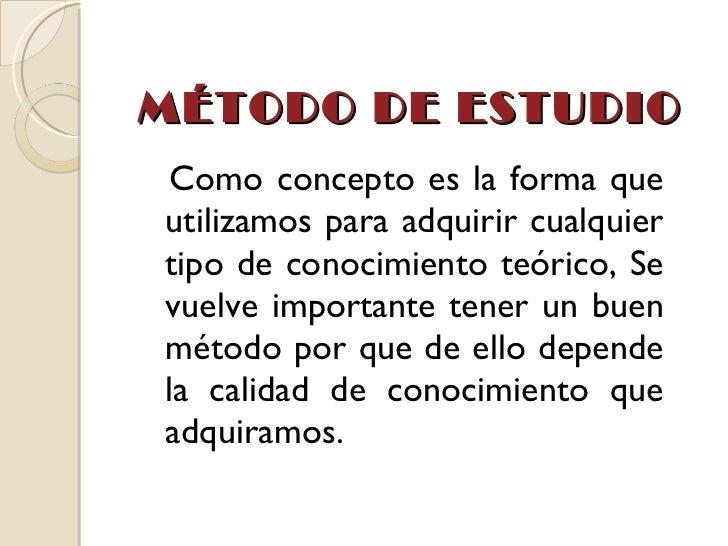 MÉTODOS DE ESTUDIO Slide 2