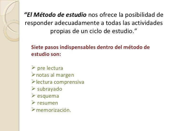 MÉTODOS DE ESTUDIO Slide 3