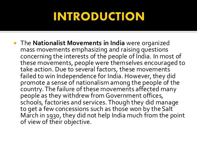 Notes on Indian National Movements (1927-1947)