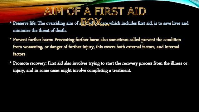 First aid box Slide 3
