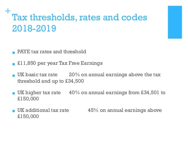 tax free threshold 2019