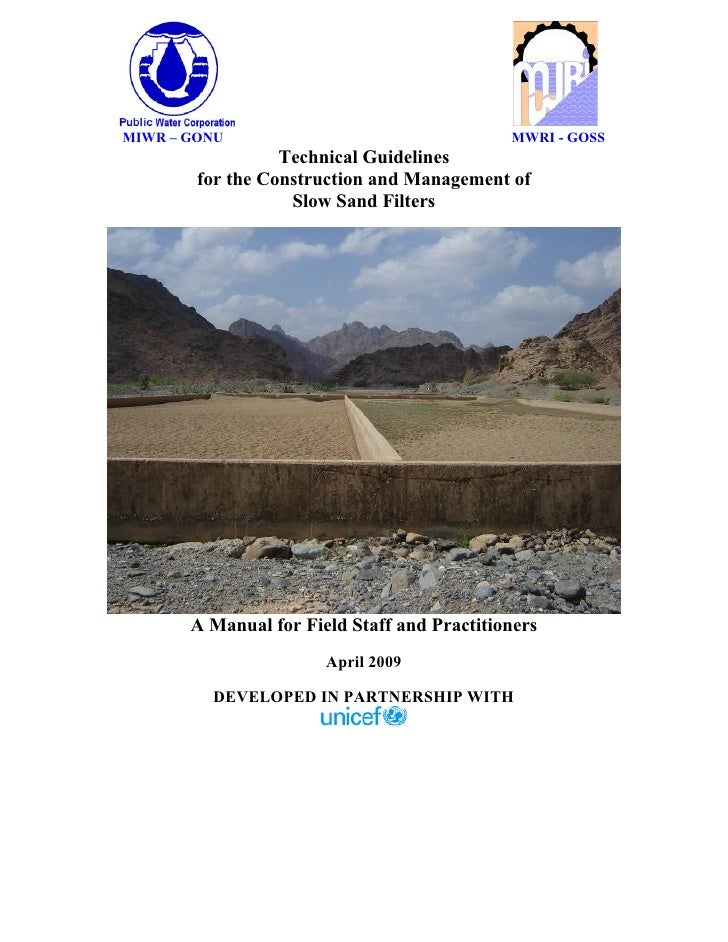 MIWR – GONU                                  MWRI - GOSS                  Technical Guidelines        for the Construction...