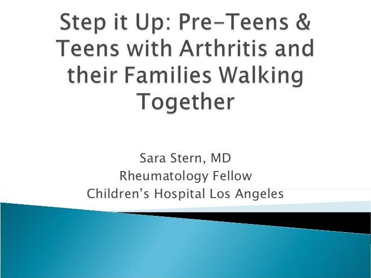 Sara Stern, MD Rheumatology Fellow Children's Hospital Los Angeles