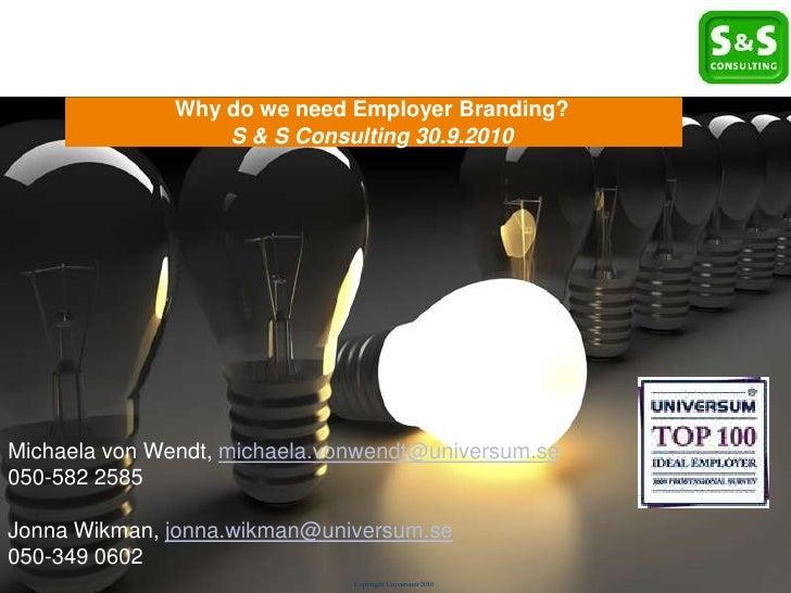 Ideal Employer         Brand Report       Klicka här för Why do we need Employer Branding?                   att ändra for...