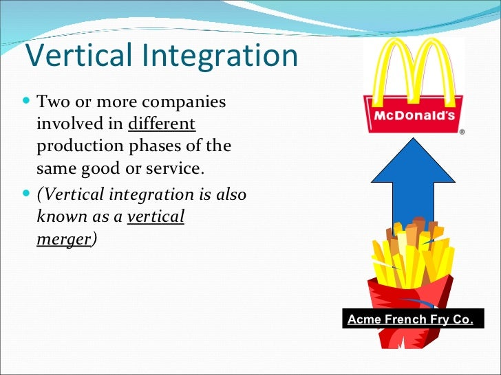 Examples of Backward Vertical Integration Strategies