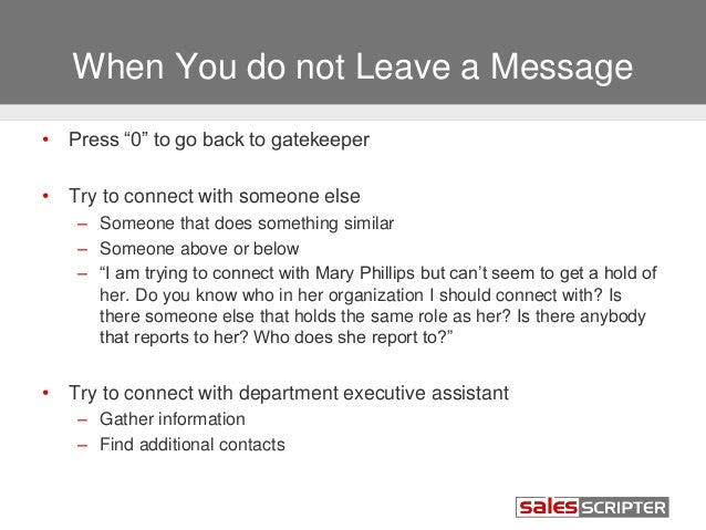 how to leave a message directly to voicemail