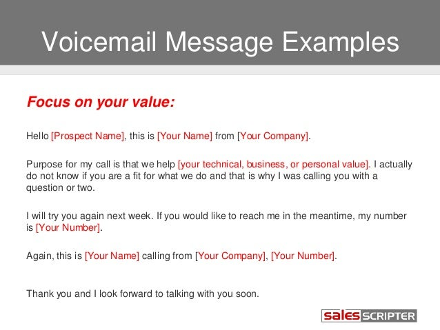 Business phone greeting examples.