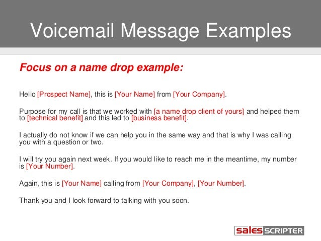 Voice Mail Message Template. voicemail message sample download ...