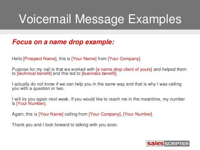 Voice message templates idealstalist voice message templates m4hsunfo