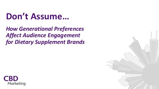 Don't Assume… How Generational Preferences Affect Audience Engagement for Dietary Supplement Brands