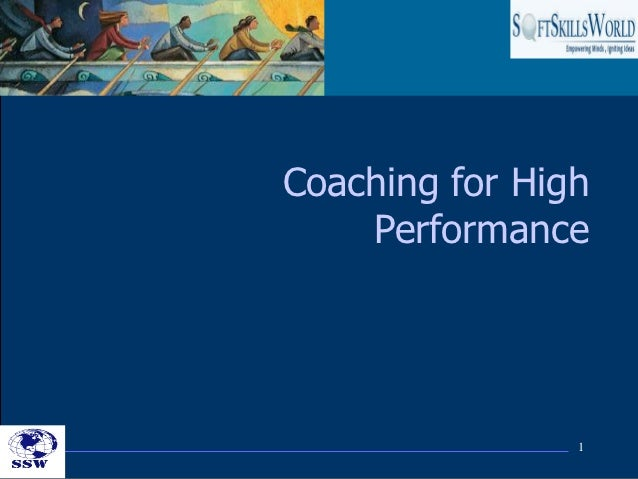 Coaching for High    Performance                1
